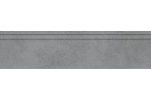 Schodovka Rako Extra tmavo šedá 30x120 cm mat DCPVF724.1