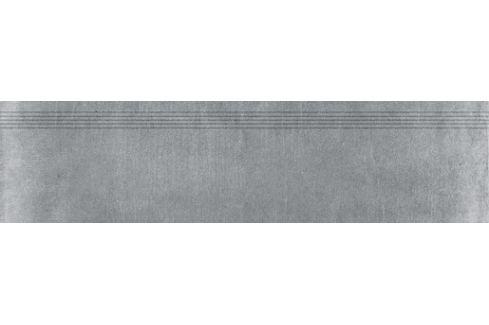 Schodovka Rako Rebel tmavo šedá 30x120 cm mat DCPVF742.1
