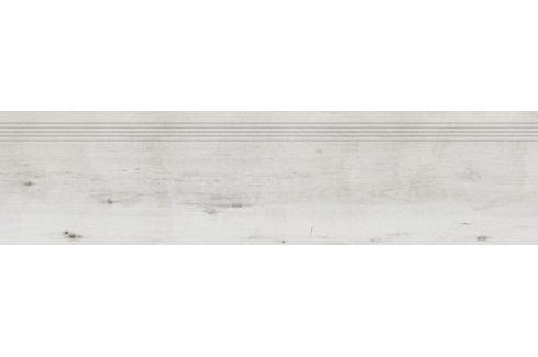 Schodovka Rako Saloon bielošedá 30x120 cm mat DCPVF745.1
