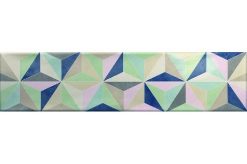 Dekor Ribesalbes Ocean mix farieb Star 7,5x30 cm lesk OCEAN2719