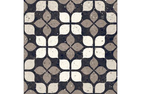 Dlažba Del Conca Frammenti nero fiore 20x20 cm mat 20FR08FI