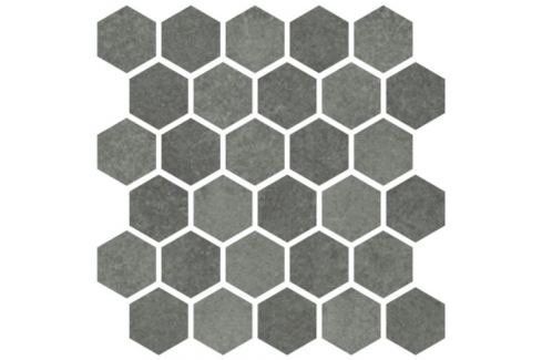 Mozaika Cir Materia Prima hunter green hexagon 27x27 cm lesk 1069912