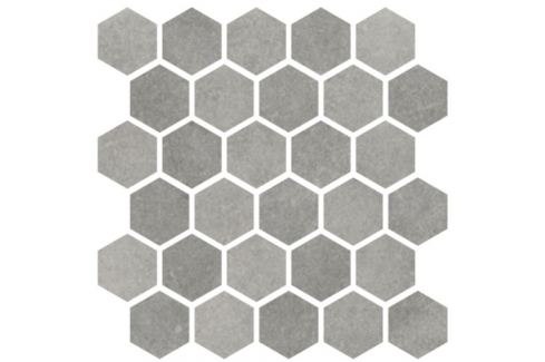 Mozaika Cir Materia Prima metropolitan grey hexagon 27x27 cm lesk 1069914