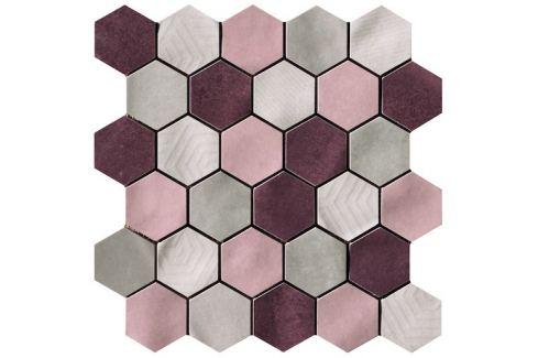 Mozaika Cir Materia Prima mix pink hexagon 27x27 cm lesk 10699221
