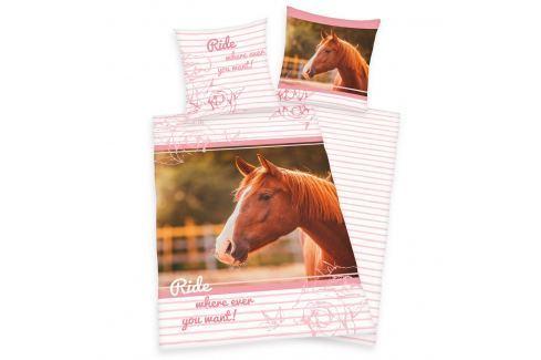 Herding Herding povlečení Kůň růžová 140x200, 70x90