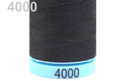 Bavlnené nite 400 m Etiketné č.50 Triana Amann Black 5ks