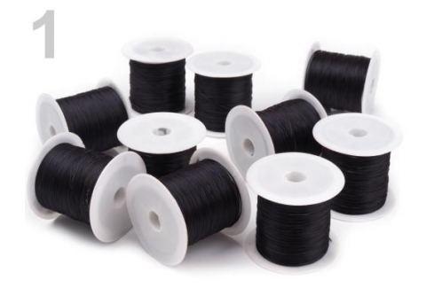 Guma / gumička plochá 1 mm Black 25ks Stoklasa