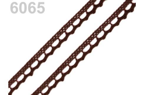 Bavlnená čipka paličkovaná šírka 9 mm Friar Brown 30m
