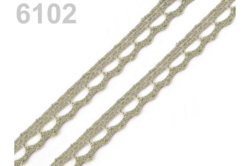 Bavlnená čipka paličkovaná šírka 9 mm Gothic Olive 30m