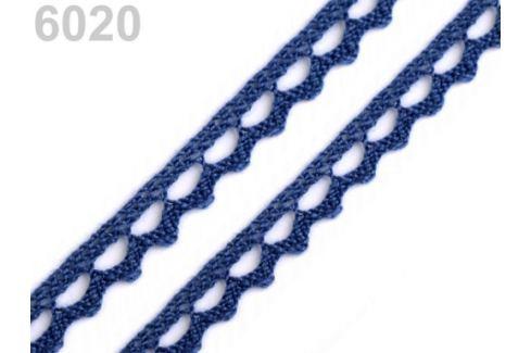 Bavlnená čipka paličkovaná šírka 9 mm Estate Blue 150m