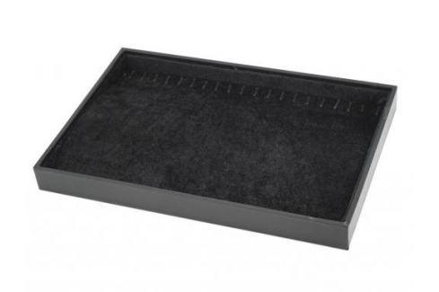 Plato samatové 23x34 cm + háčiky čierna 12ks Stoklasa