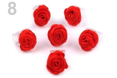 Štipec do vlasov 10x13-15 mm s ružičkou ELIS červená  20ks