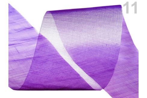 Stuha šifónová rezaná  šírka  50 mm Imperial Purple 25m Stoklasa