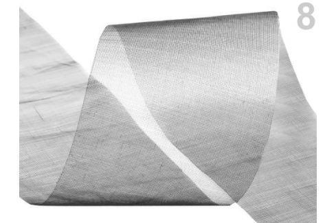 Stuha šifónová rezaná  šírka  50 mm Silver 440m Stoklasa