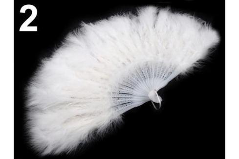 Vejár pérový veľký biela 1ks Stoklasa