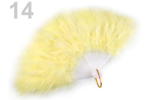 Vejár pérový veľký žltá najsv. 1ks Stoklasa