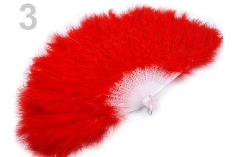 Vejár pérový veľký červená 3ks Stoklasa