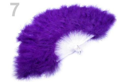 Vejár pérový veľký fialová purpura 9ks Stoklasa