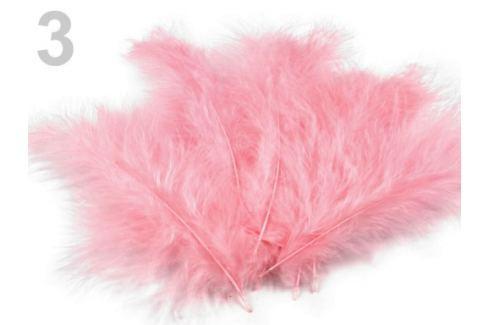 Pštrosie perie dĺžka 9-16 cm ružová str. 1sáčok Stoklasa