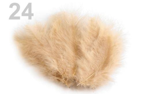Pštrosie perie dĺžka 9-16 cm krémová 1sáčok Stoklasa