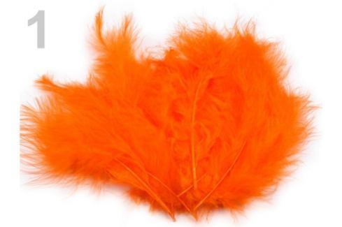 Pštrosie perie dĺžka 9-16 cm oranžová   10sáčok Stoklasa
