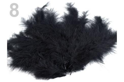 Pštrosie perie dĺžka 9-16 cm čierna 10sáčok Stoklasa