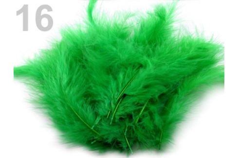 Pštrosie perie dĺžka 9-16 cm zelená irská 10sáčok Stoklasa