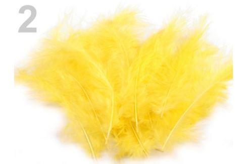 Pštrosie perie dĺžka 9-16 cm žltá   10sáčok Stoklasa