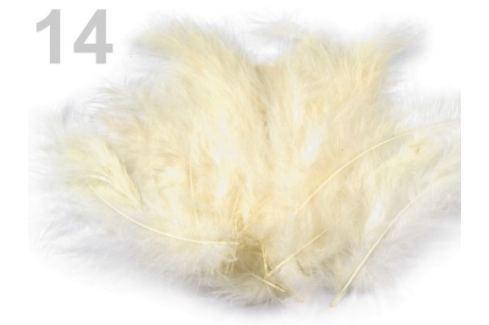 Pštrosie perie dĺžka 9-16 cm vanilka 10sáčok Stoklasa