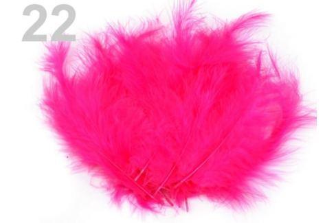 Pštrosie perie dĺžka 9-16 cm ružová neonová 10sáčok Stoklasa