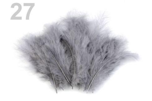 Pštrosie perie dĺžka 9-16 cm šedá 10sáčok Stoklasa
