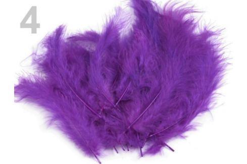 Pštrosie perie dĺžka 9-16 cm fialová purpura 150sáčok Stoklasa
