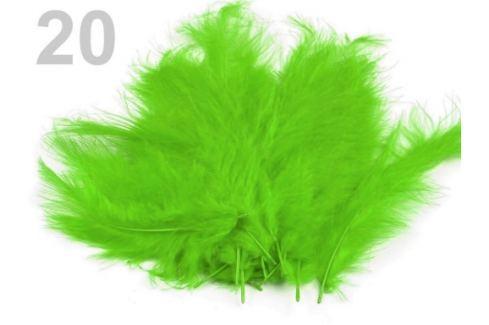 Pštrosie perie dĺžka 9-16 cm zelená sv. 150sáčok Stoklasa
