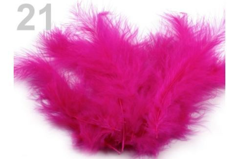 Pštrosie perie dĺžka 9-16 cm ružovofialová 150sáčok Stoklasa