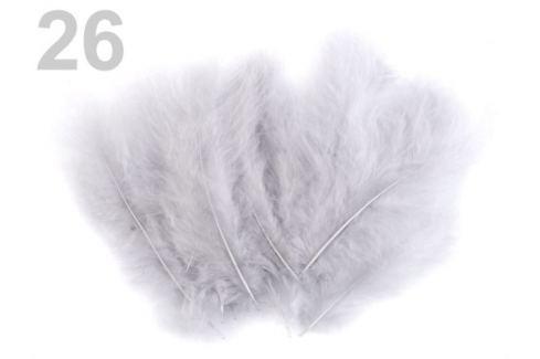 Pštrosie perie dĺžka 9-16 cm šedá najsv. 150sáčok Stoklasa
