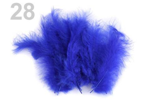 Pštrosie perie dĺžka 9-16 cm modrá královská 150sáčok Stoklasa
