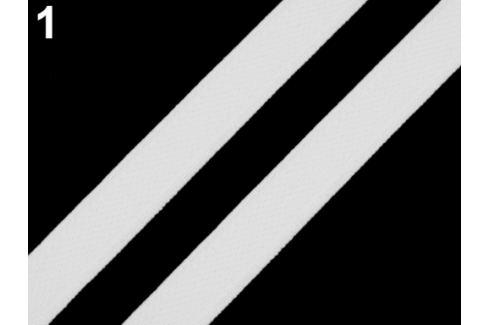 Gumička plochá / ramienková šírka 12 mm biela 25m