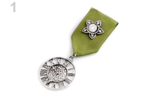Brošňa / odznak zelená 12ks Stoklasa