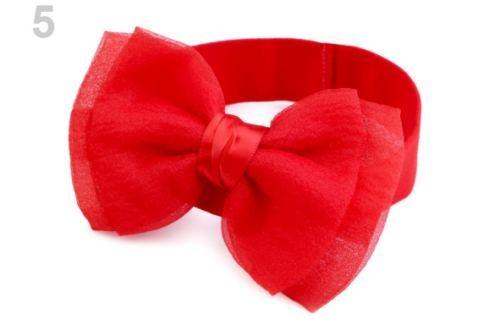Detská elastická čelenka do vlasov s mašľou červená 1ks Stoklasa