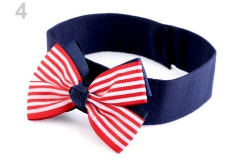 Detská elastická čelenka do vlasov námornícka modrá parížska 36ks Stoklasa