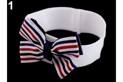 Detská elastická čelenka do vlasov námornícka biela 36ks Stoklasa