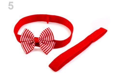 Detská elastická čelenka do vlasov, sada červená 1ks Stoklasa