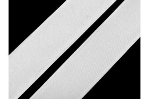 Suchý zips háčik + plyš samolepiaci šírka 30 mm biela 100m Stoklasa