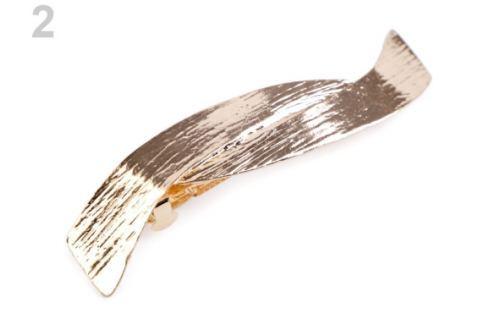 Francúzska spona do vlasov zlatá 1ks Stoklasa