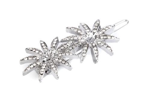 Štrasová sponka do vlasov kvety crystal 12ks Stoklasa