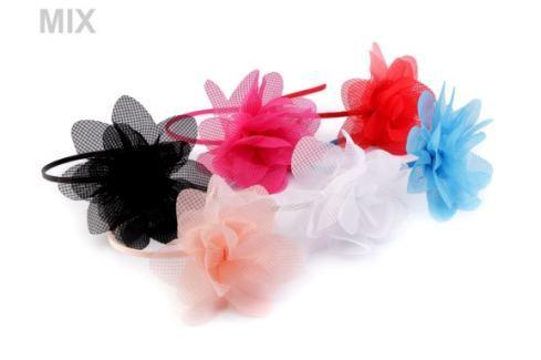 Saténová čelenka do vlasov s kvetom Stoklasa