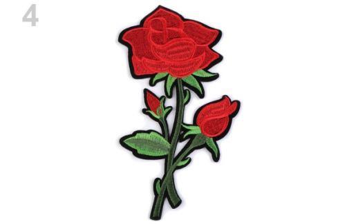 Nažehlovačka na rifle kvety červená 50ks Stoklasa