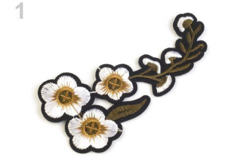 Nažehlovačka na rifle kvety biela 10ks Stoklasa