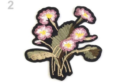 Nažehlovačka na rifle kvety staroružová 10ks Stoklasa
