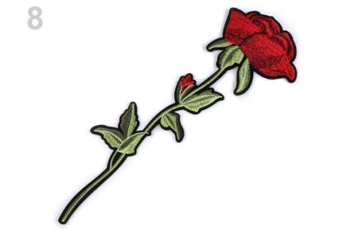 Nažehlovačka na rifle ruže / kvety červená 1ks Stoklasa